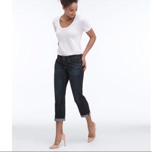 AG Adriano Goldschmeid Tomboy Crop Releaxed Jeans